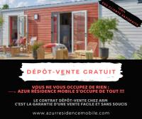 Dépot vente de mobil homes GRATUIT chez Azur résidence mobile