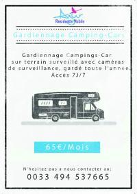 Gardiennage camping cars  accessible 7/7j et 18/24h entièrement sécurisé