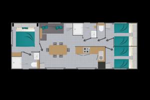 Mobil-Home neuf collection 2020 de la marque  LOUISIANE gamme VACANCES CARAIBES