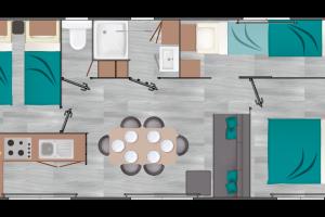 Mobil-Home neuf LOUISIANE de la gamme VACANCES GRAND LARGE 3