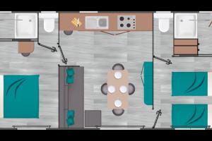 Mobil-Home neuf collection 2020, de la marque LOUISIANE de la gamme VACANCES, IROISE