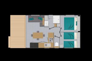 Mobil-Home neuf collection 2020 de la marque LOUISIANE de la gamme VACANCES, MEDITERRANNEE GRAND AIR