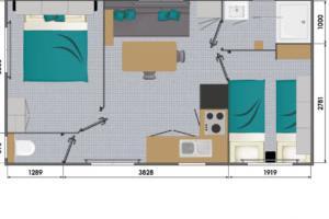 Mobil-Home neuf collection 2020, de la marque LOUISIANE de la gamme VACANCES, OCEANE