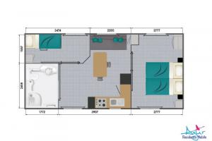 Mobil-Home neuf, collection 2020 de la marque LOUISIANE , gamme VACANCES,  PMR