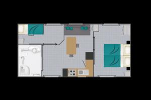 Mobil-Home neuf collection 2021,de la marque LOUISIANE, gamme  VACANCES, PMR