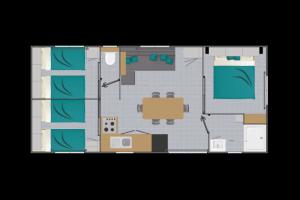Mobil-Home neuf collection 2021,de la marque LOUISIANE, gamme  VACANCES, TAMARIS