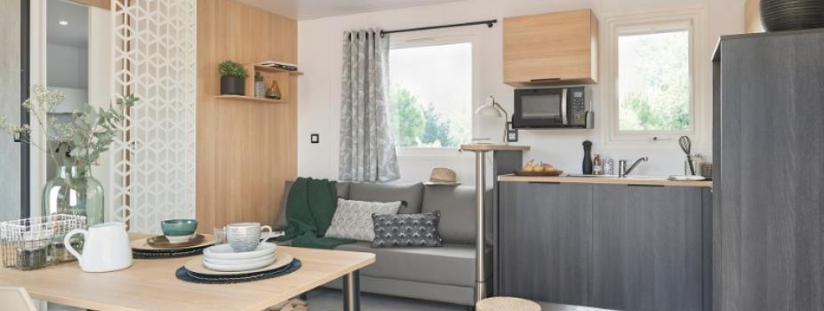 Mobil-Home neuf collection 2021,de la marque LOUISIANE, gamme  VACANCES, CORAIL