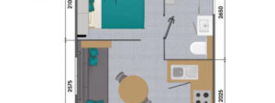 Mobil-Home neuf collection 2020,de la marque LOUISIANE,gamme  VACANCES, BORA