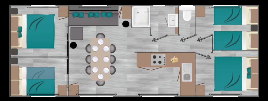 Mobil-Home neuf LOUISIANE de la gamme VACANCES OMAN