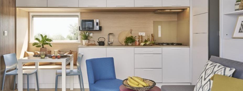 Mobil-Home neuf collection 2021,de la marque LOUISIANE,gamme  TAOS, F4